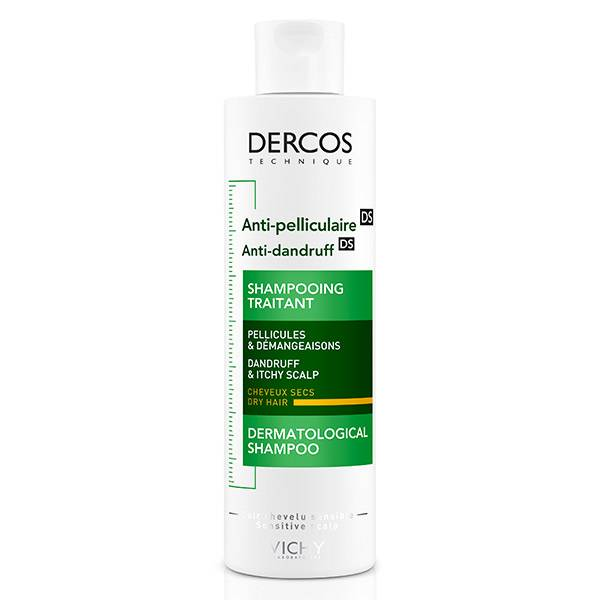 Vichy Dercos Shampooing Traitant Antipelliculaire Cheveux Secs 200ml