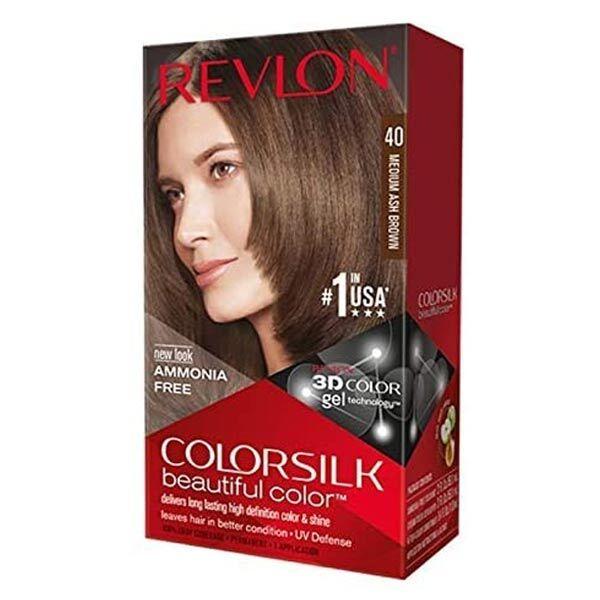 Revlon Colorsilk Coloration Permanente N°40 Châtain Cendré Moyen