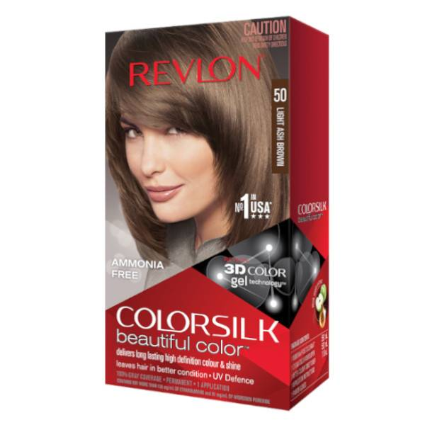 Revlon Colorsilk Coloration Permanente N°50 Châtain Cendré Clair