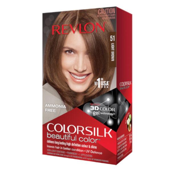 Revlon Colorsilk Coloration Permanente N°51 Châtain Clair