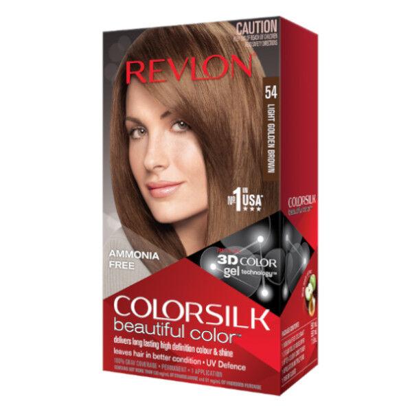 Revlon Colorsilk Coloration Permanente N°54 Châtain Doré Clair