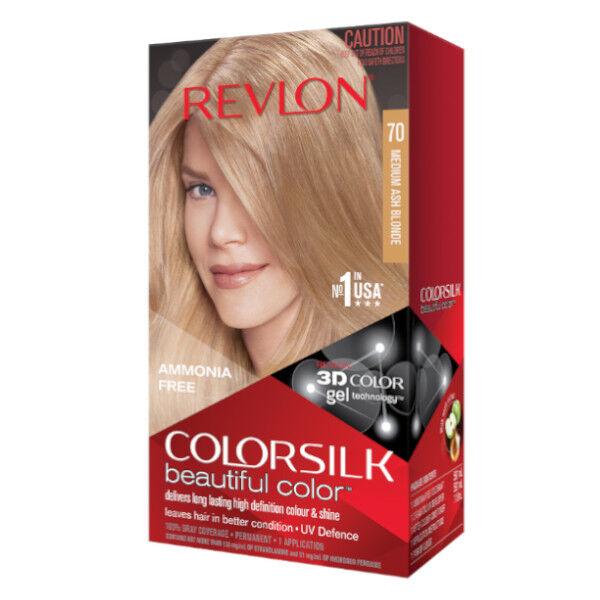 Revlon Colorsilk Coloration Permanente N°70 Blond Cendré Moyen