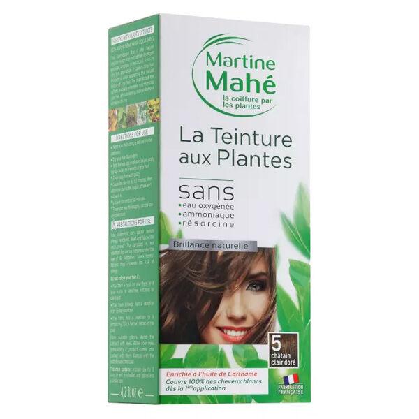 Martine Mahé Teinture aux Plantes Coloration N°5 Châtain Clair Doré