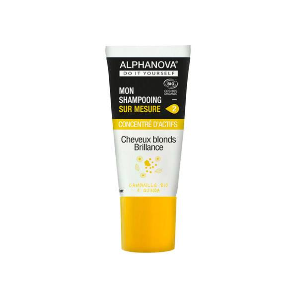 Alphanova Mon Shampooing Sur Mesure Concentré D'Actifs Cheveux Blonds ou Colorés Bio 20ml