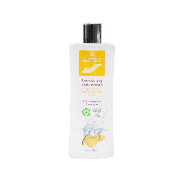 Montbrun Shampooing à l'Eau Thermale Cheveux Secs Pomme et Mangue Bio 250ml