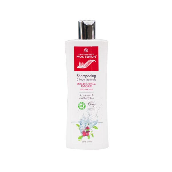 Montbrun Shampooing à l'Eau Thermale Perte de Cheveux Thé Vert et Cranberry Bio 250ml