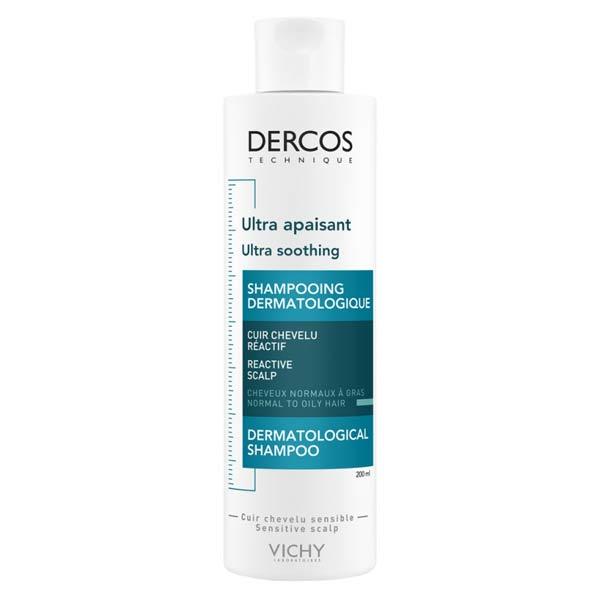 Vichy Dercos Shampooing Dermatologique Ultra Apaisant Cheveux Normaux à Gras 200ml
