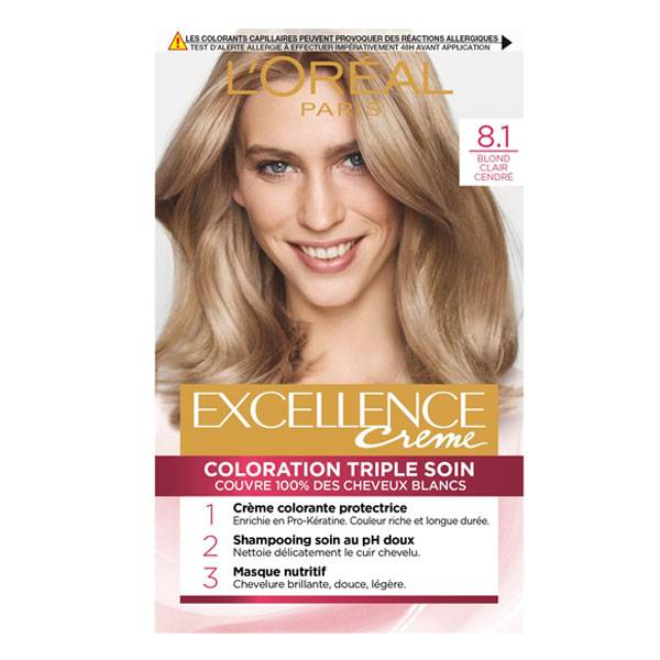 L'Oréal Paris L'Oréal Excellence Coloration Blond Clair Cendré 8.1