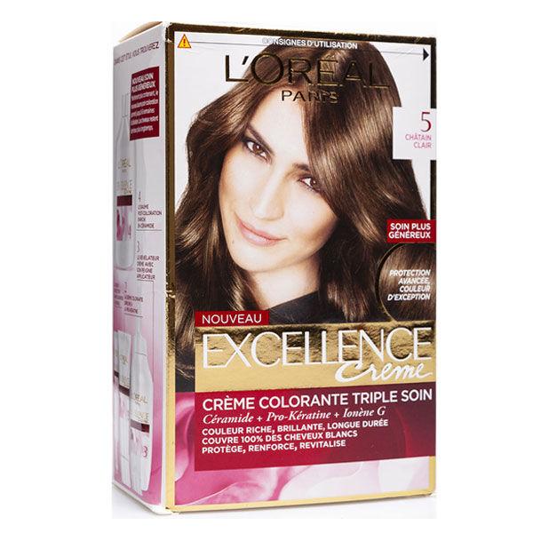 L'Oréal Excellence Coloration Châtain Clair 5