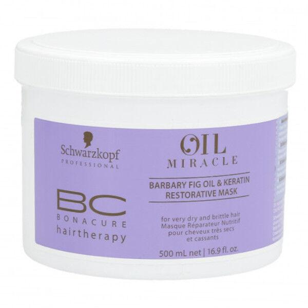 Schwarzkopf Professional BC Oil Miracle Masque Réparateur Nutritif Figue de Barbarie & Kératine 500ml