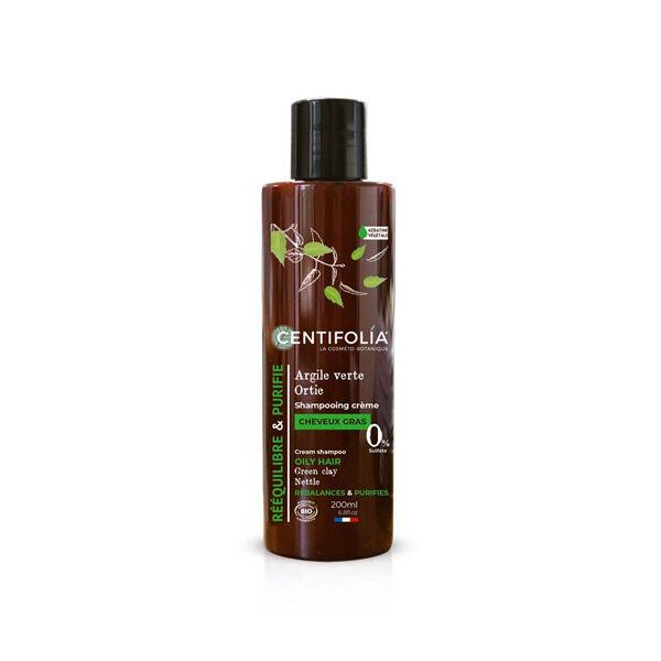 Centifolia Shampooing Crème Cheveux Gras Bio Argile Verte et Ortie 200ml