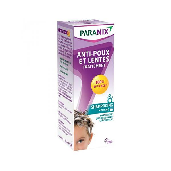 Paranix Traitement Anti-Poux et Lente Shampooing 200ml + peigne