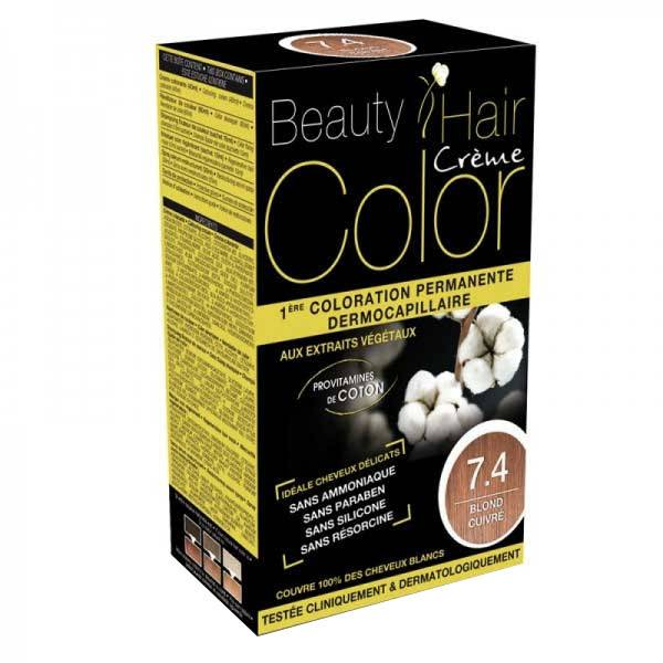 Beauty Hair Crème Color Blond Cuivré 7.4