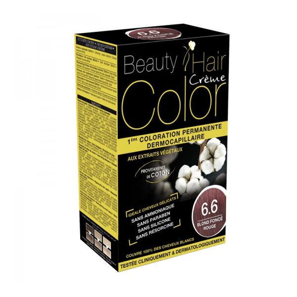 Beauty Hair Crème Color Blond Foncé Rouge 6.6
