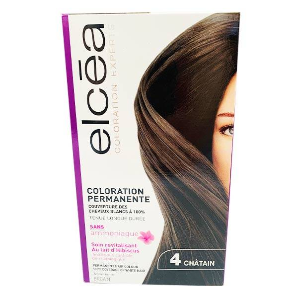 Elcea Coloration Permanente Chatain N4