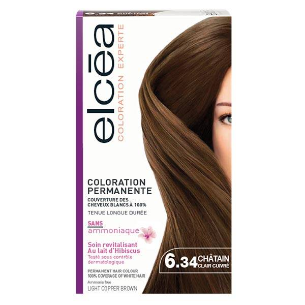 Elcea Coloration Permanente Chatain Clair Cuivre N6.34