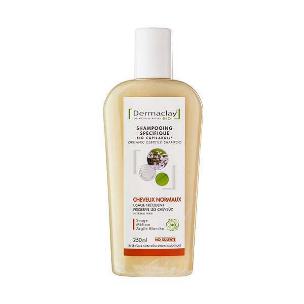Dermaclay Shampooing Bio Cheveux Normaux Usage Fréquent 250ml