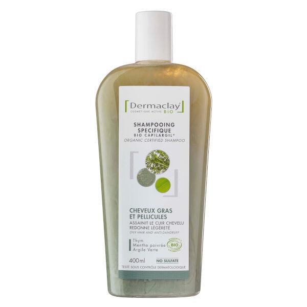 Dermaclay Shampooing Cheveux Gras & Pellicules Bio 400ml