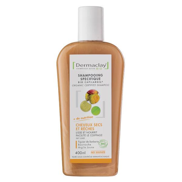 Dermaclay Shampooing Bio Capilargil Cheveux Secs et Rêches 400ml