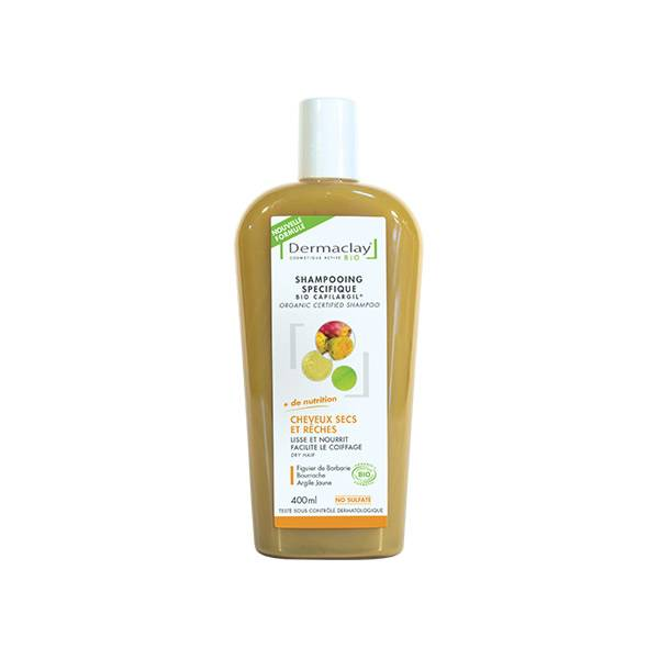 Dermaclay Shampooing Bio Capilargil Cheveux Secs 400ml