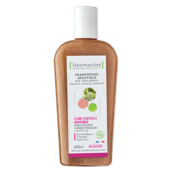 Dermaclay Shampooing Bio Cheveux Fragiles & Délicats Argile Rose 400ml