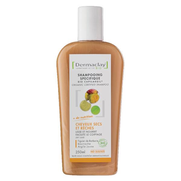 Dermaclay Shampooing Bio Cheveux Secs et Rêches 250ml