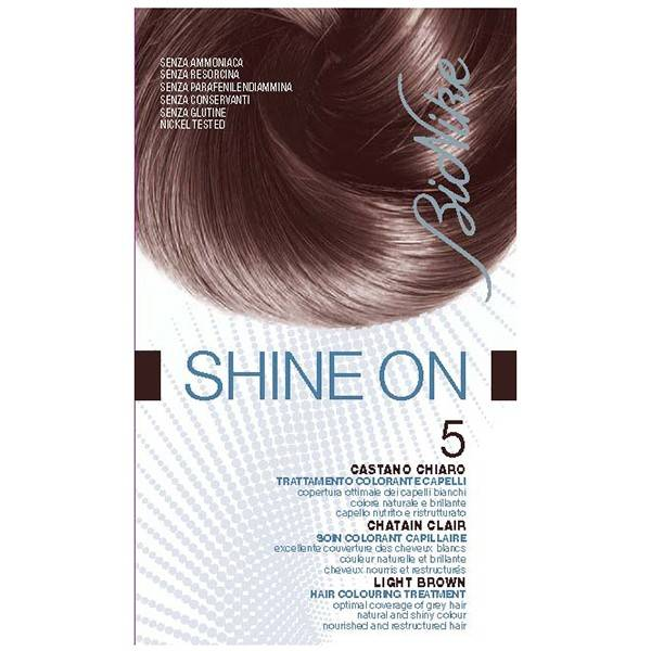 6070119 Bionike Shine On Coloration Cheveux Permanente Haute Tolérance Chatain Clair 5