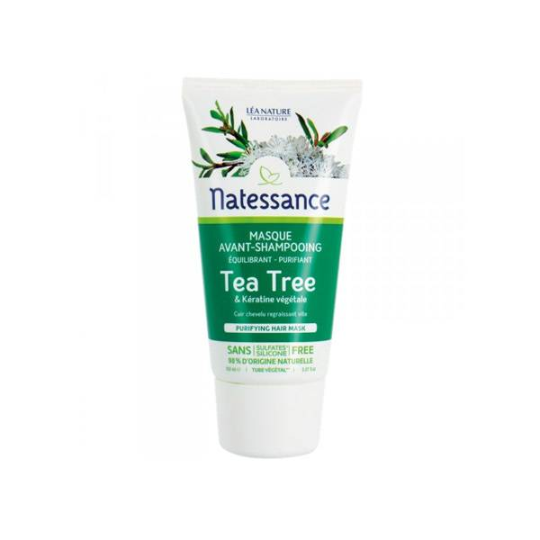 6119644 Natessance Masque Avant Shampooing Tea Tree 150ml