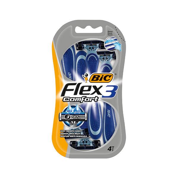 BIC Flex 3 Comfort Rasoirs Jetables 3 Lames 4 unités