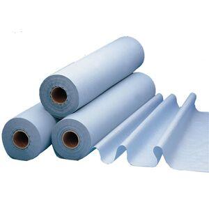 LCH Draps d'examen plastifiés bleus 50X38cm 68m 180 Feuilles - Carton de 6 rouleaux - Publicité