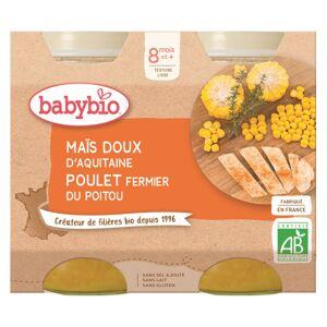 Babybio Menu du Jour Pot Maïs Doux Poulet +8m Bio 2 x 200g - Publicité