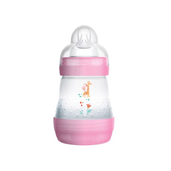 Mam Biberon Easy Start Anti-colique 0m+ Rose Girafe Débit 1 160ml