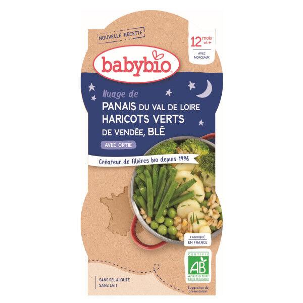 Babybio Bonne Nuit Bol Haricots Verts Panais Blé +12m Bio 2 x 200g