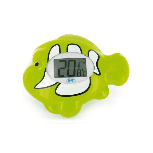 dBb Remond Thermomètre Electronique Ambiance et Bain Ecran Lumineux Poisson Vert