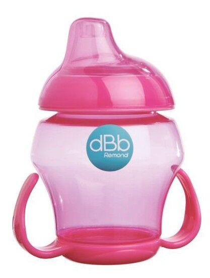 dBb Remond Babytasse Bec Silicone +4 mois Rose 280ml
