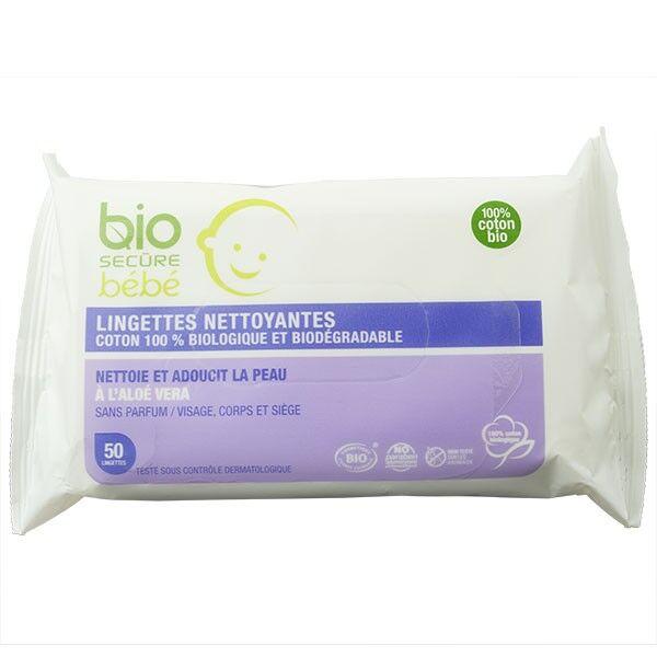 Bio Secure Bébé Lingettes Biodégradables 50 lingettes