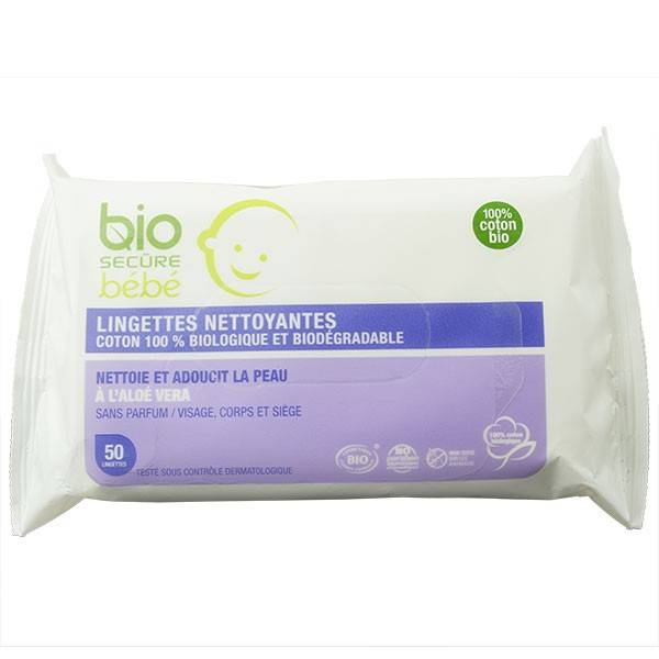 9702933 Bio Secure Bébé Lingettes Biodégradables 50 lingettes