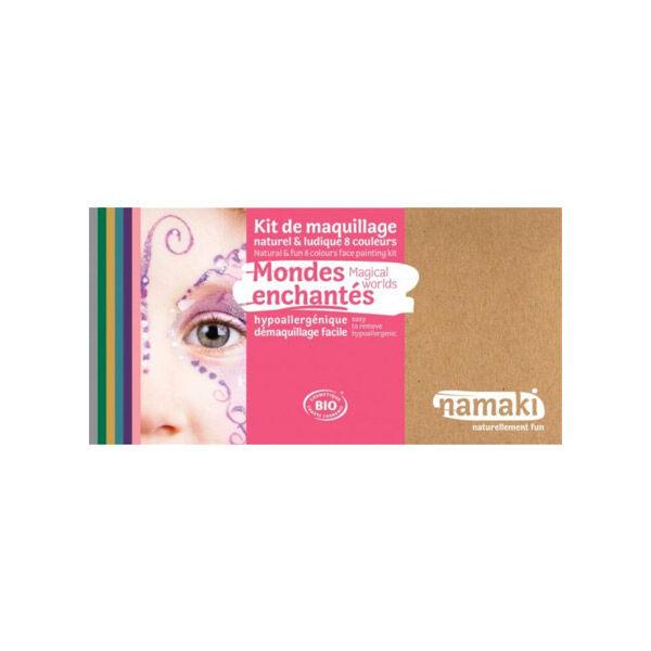 Namaki Kit de Maquillage Bio Enfant Mondes Enchantés 8 couleurs