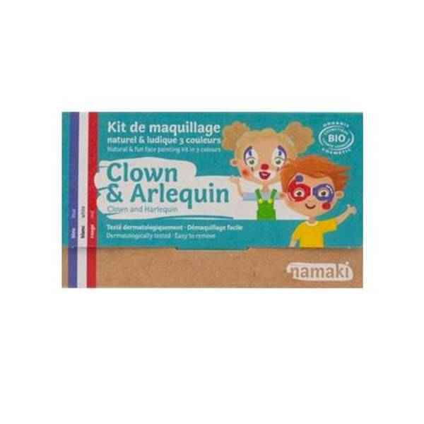 Namaki Kit de Maquillage Bio Enfant Clown et Arlequin 3 couleurs