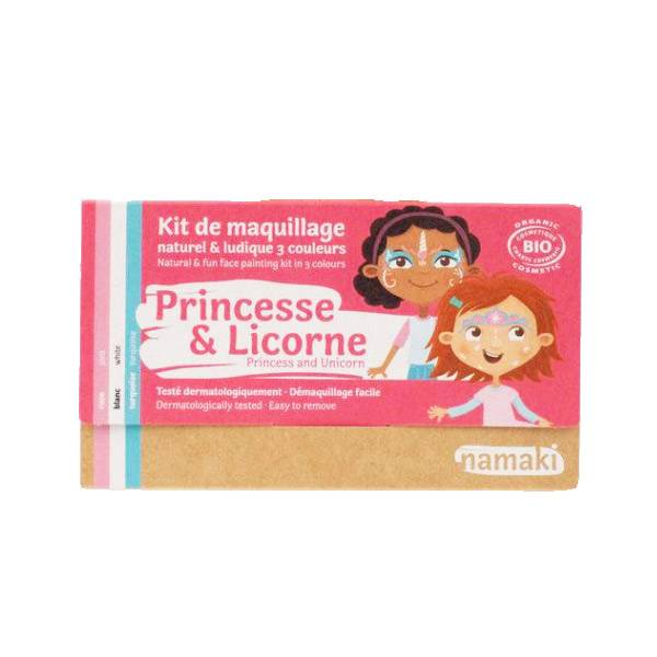 Namaki Kit de Maquillage Bio Enfant Princesse et Licorne 3 couleurs
