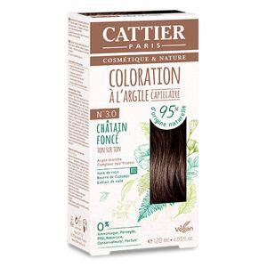 Cattier Coloration Ton sur Ton Châtain Foncé 3.0 120ml - Publicité