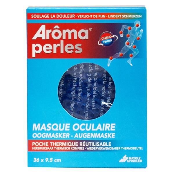 Arôma Perles Masque Oculaire POCHE thermique Réutilisable Chaud/Froid 36cm x 9,5cm