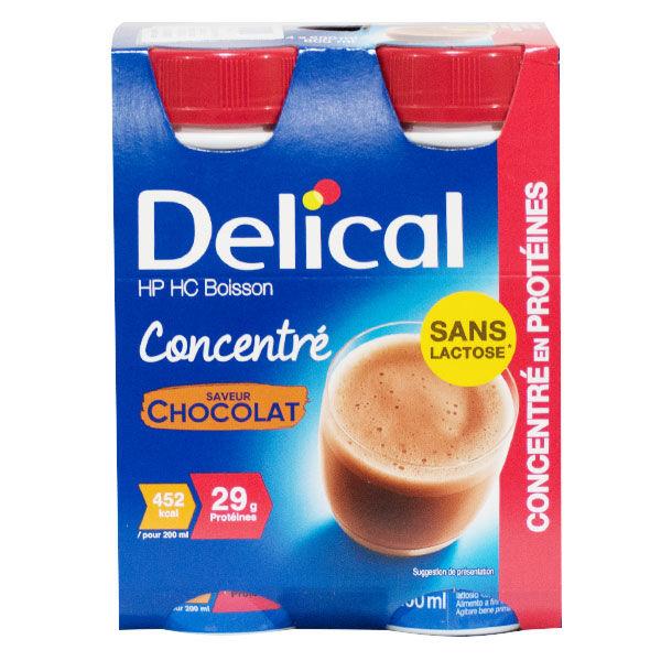 Delical Boisson HP HC Concentré en Protéines sans Lactose Chocolat 4 x 200ml
