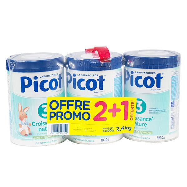 Picot Croissance Nature 3ème Age 10-36m 800g Lot 2 + 1 Offert