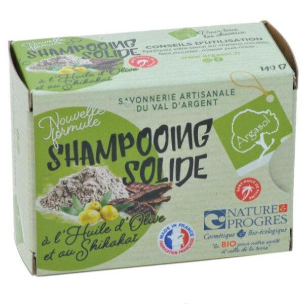 Argasol Bio Shampooing Solide à l'Huile d'Olive et Shikakai 140g