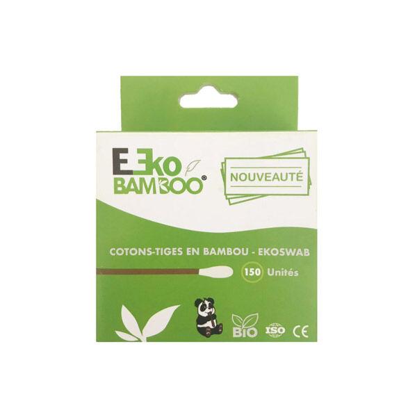Ekobamboo Cotons-Tiges Bambou Bio 150 unités