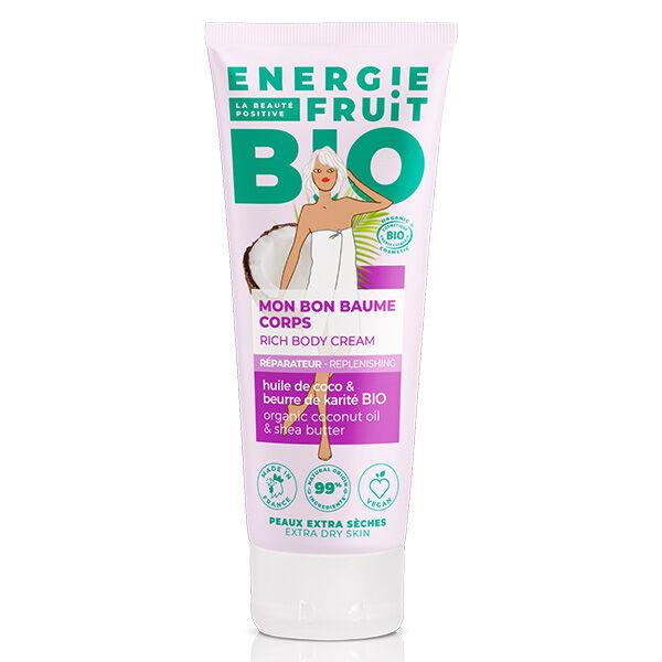 Energie Fruit Baume Corps Huile de Coco & Beurre de Karité Bio 200ml