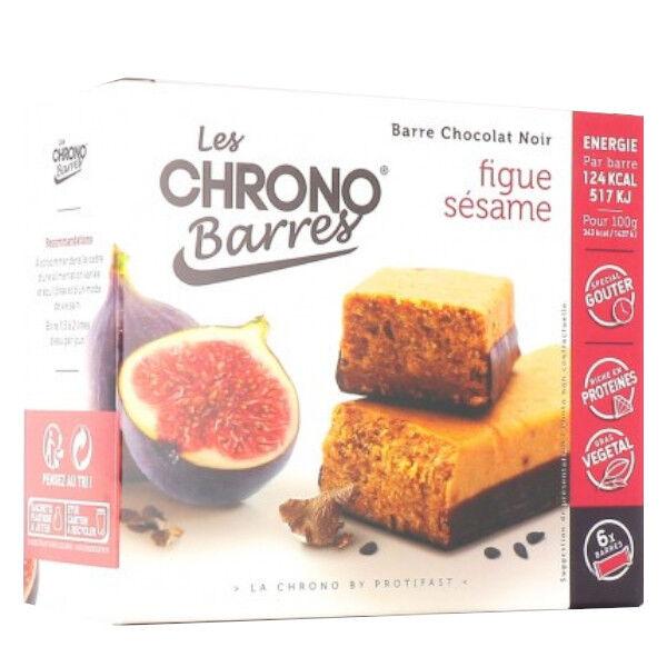 Protifast Chrono-Barres Chocolat Noir Figues Sésame 6 Barres