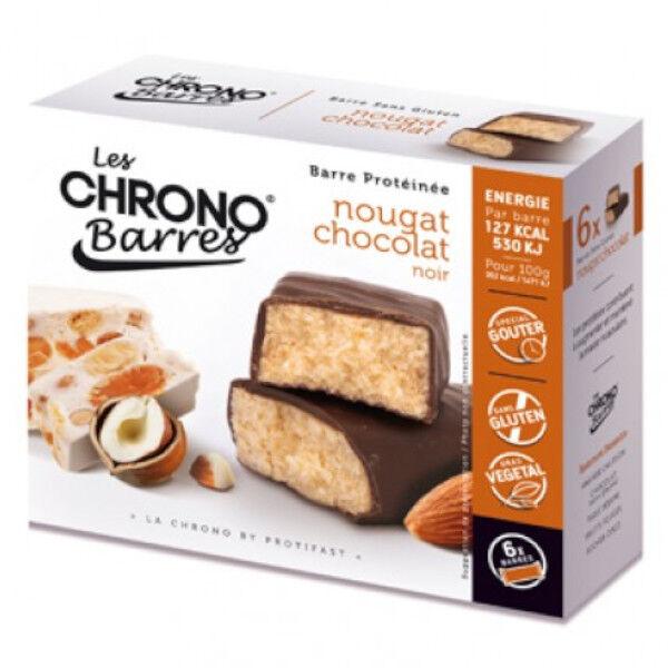 Protifast Chrono-Barres Chocolat Noir Nougat 6 barres