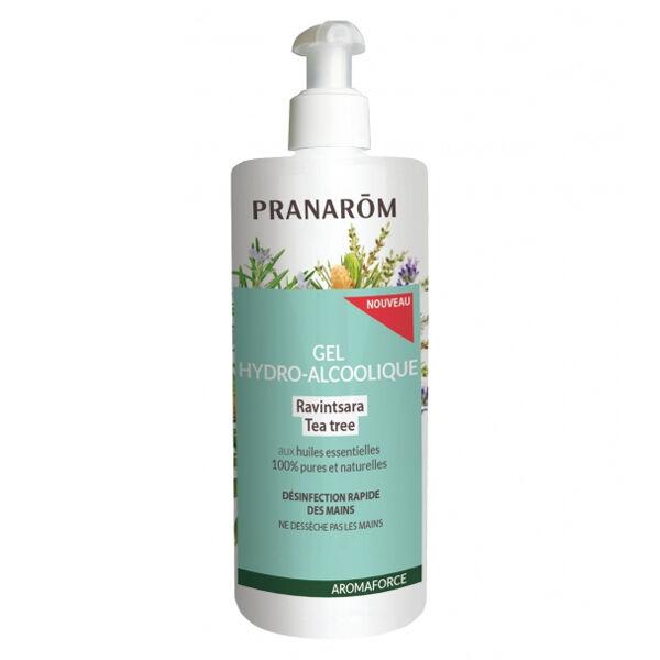 Pranarom Aromaforce Gel-Hydro Alcoolique Ravintsara Tea Tree 500ml
